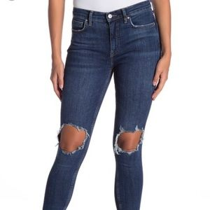 Free People high wasted ripped jeans